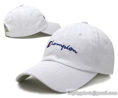 Champion Baseball Caps Curved Cap White|only US$8.90 - follow me to pick up couopons.