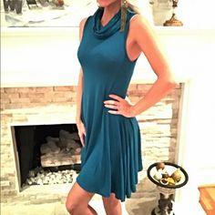 Amazing color! Gorgeous shark bite hem dress! Available in S-M-L Dresses