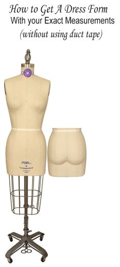 our fitting pads will allow you to adjust a dress form to get your exact measurements.