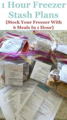 1 hour freezer stash plans, to stock your freezer with 6 meals in 1 hour, available as part of the Eat at Home meal plans {review on Home Storage Solutions 101} #FreezerMeals #FreezerCooking #PrepAheadMeals Freezer Cooking, Freezer Meals, Cooking Tips, Monthly Meal Planning, Menu Planning, Household Notebook, Household Tips, Household Products, Organization Hacks