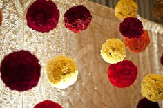 Rose Flower Balls in Mandap