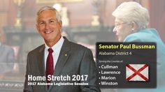 PAUL BUSSMAN Home Stretch 2017 Legislative Session In the Home Stretch of the 2017 Alabama Legislative Session Paul Bussman, the Alabama State District 4 Senator (serving Cullman, Lawrence, Marion and Winston counties) once again keeps citizens up-to-date throughout the 2017 Alabama Legislative session and beyond here on the pages of Cullman Today.