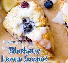 Melt in your mouth lemon scones bursting with fresh blueberries! You won't believe how easy they are to make!