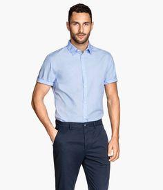 f88b3056 Light Blue Shorts, Work Casual, Men Casual, Short Sleeve Button Up, Short