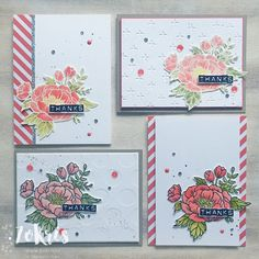 ZoKris: Watercolor Pencils vs Classic Stampin' Pads, Birthday Blossoms, Stamping Up, beautiful