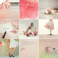 "I'm in a ""pink"" kind of mood! Mood Colors, Colours, Collages, Color Collage, Photo Images, Shabby Chic, I Believe In Pink, Everything Pink, Classic Collection"