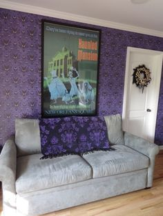 Home Sweet Haunted Mansion: 13 Photos of My Room Inspired by the Disney Attraction. I cannot wait for us to buy a house and do this for our living room.