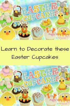 Learn to Decorate Easter Cupcakes Online! #easter #eastercrafts #cupcakes #cakedecorating #yum #sweet #yummy #cakedesign #caketools #cakedecoratingcourses #ad