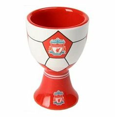 Liverpool Egg Cup by Home Win. $5.52. Official Liverpool Egg Cup. A Great Small Gift. The Liverpool Egg Cup is a painted ceramic Egg Cup in the red and white team colours of the team and comes fully boxed in a clear packaging. The outside of the Egg Cup has a football design and features the Liverpool club crest in the centre, the inside of the Egg Cup also has a printed crest. This Liverpool Egg Cup is an Official Liverpool product and is produced under licence for Liverpo...