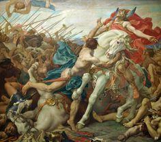 Detail : The Battle of Tolbiac. 1881. Paul Joseph Blanc. French. 1846-1904…