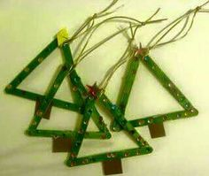 Popcicle stick trees. We have gems at work we can use on these!