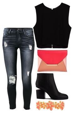 """""""."""" by erixx ❤ liked on Polyvore featuring 7 For All Mankind, Zara, Sole Society, Alexander Wang and Liz Claiborne"""