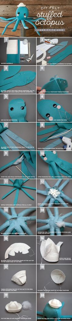 Stuffed Felt Octopus Tutorial from MichaelsMakers  Lia Griffith