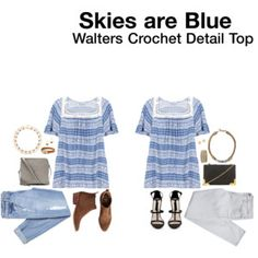 Skies are Blue Walters Crochet Detail Top