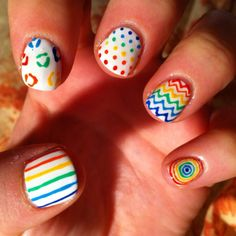 Creative nails Bursting with color!!
