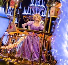 So much light and happiness! Disney parade