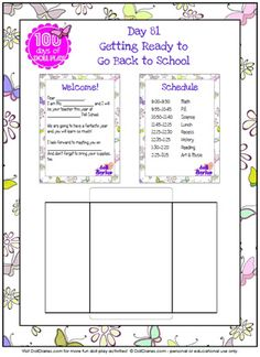 printable doll school items - teacher letter, schedule (from Doll Diaries)
