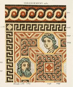 Plate from Maw & Company's Catalogue of Geometrical and Roman Mosaics Encaustic Tile Pavements and Enamelled Wall Decorations c.1890.