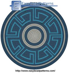 Base - a Maze Tapestry Crochet Patterns, Crochet Dolls Free Patterns, Crochet Mandala Pattern, Crochet Stitches Patterns, Crochet Round, Crochet Home, Knit Crochet, Free Crochet, Mochila Tutorial