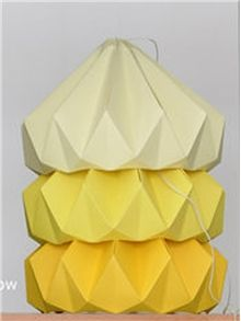 Chestnut Lampshade folded in papair