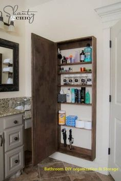 Storage for Bathroom Items. 20 Storage for Bathroom Items. 24 Small Bathroom Storage Ideas Wall Storage solutions and Storage Hacks, Hidden Storage, Wall Storage, Diy Storage, Storage Ideas, Storage Organizers, Storage Solutions, Jewelry Storage, Extra Storage