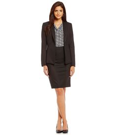Herringbone Blazer and Pencil Skirt suit/ office chic/work wear style