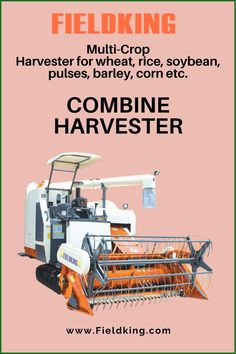 This #combineharvester or #multicropharvester is a versatile, sophisticated and complete solution for harvesting. It can quickly harvest even the largest fields in a few hours. #CombineHarvester #harvesterprice #harvestermachine #combineharvestermachine #harvestermachineprice #combineharvesterprice #harvestermachinepriceinIndia #combineharvesterpriceinIndia #minicombineharvesterprice Harvest Corn, Agriculture Machine, Combine Harvester, Fields, Mini
