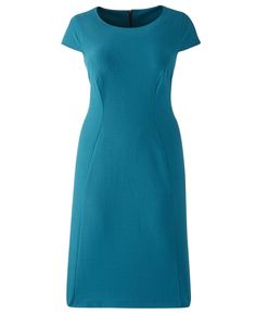 #Shop: Fitted, cap-sleeve sheeth in teal or black