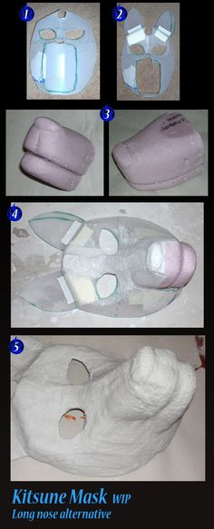Kitsune Mask WIP long nose alternative by DreamingZenko.deviantart.com