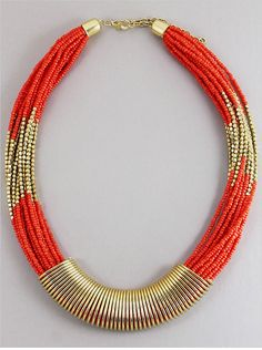P.S. I Love You More Boutique | Egyptian Romance Necklace in Deep Coral | www.psiloveyoumoreboutique.com