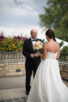 Daddy and daughter shot before the wedding ceremony! Meggie & Kevin's Hayfields Country Club wedding by Charlotte Jarrett Events