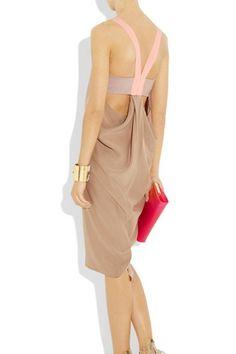 Elizabeth and James Tilda Silk-Crepe Dress, $445, available at Net-A-Porter. Photo: Via Net-A-Porter #refinery29 http://www.refinery29.com/oscar-cocktail-party-fashion#slide-10