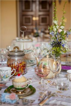 wedding reception, table and crockery, vintage inspired wedding-serve afternoon tea for re 1940s Wedding Theme, Wedding Themes, Our Wedding, Wedding Decorations, Wedding Ideas, Pinwheel Decorations, Wedding Ceremony, Wedding Centrepieces, Wedding Fair