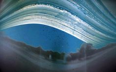 "Solargraph made with a pinhole camera in 2009. (Image: Becky Ramotowski) It shows the path of the Sun for the six months from the summer solstice - the topmost streak - to the winter solstice - the lowest streak. ©Mona Evans, ""Why Planets Have Seasons"" http://www.bellaonline.com/articles/art54046.asp"