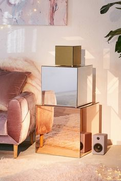 Shop Gold Mirrored Cube at Urban Outfitters today. We carry all the latest styles, colours and brands for you to choose from right here.