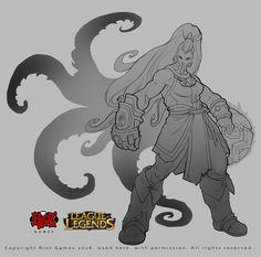 Part of my work on the character Illaoi to League of Legends, Alexandr (LittleDruid) Pechenkin on ArtStation at https://www.artstation.com/artwork/part-of-my-work-on-the-character-illaoi-to-league-of-legends-1