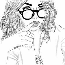 Image result for tumblr  black drawn girl