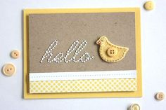 Bitty Baby Blessings Revisited: Hello Ducky Card by Heather Nichols for Papertrey Ink (May 2015)