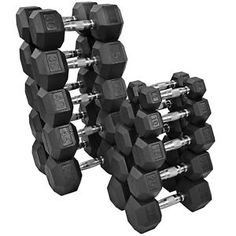 Develop strength, power, and train your core while also shaping and toning your body. The Rubber Hex Dumbbell Set will help tone muscle groups and improve core strength by enhancing traditional aerobic exercises and fitness routines with a variety of dumb Rubber Dumbbells, Weights Dumbbells, Hex Dumbbell Set, Dumbbell Rack, Weight Training Equipment, No Equipment Workout, Fitness Equipment, Fitness Depot