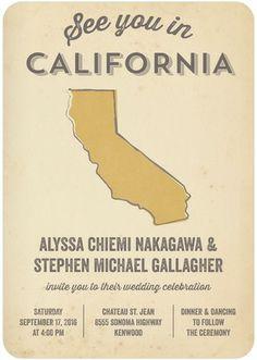 Stately Statement - Signature White Textured Wedding Invitations - Sarah Hawkins Designs - Marigold - Neutral : Front | Wedding Paper Divas | For the Utah celebration