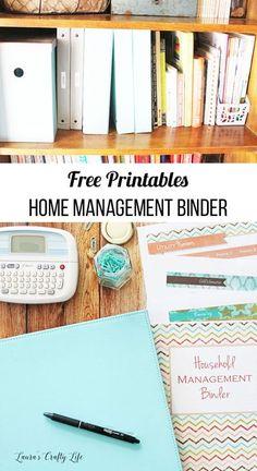 Office Organization At Work, Binder Organization, Household Organization, Printable Organization, Organizing Life, Organising, Household Notebook, Household Binder, Home Binder