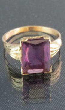 Vintage 14kt Gold Amethyst Ring