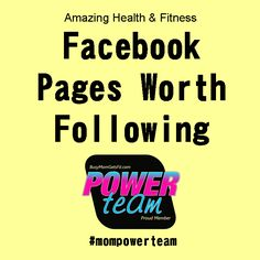 Amazing Health & Fitness Facebook Pages worth following.  An exellent and wide variety of women that share their fitness journies, tips, and life!  #motivation #inspiration #quote #fitspiration #fitness #health #workout #mom #mothers #women #healthy #recipes #clean     #mompowerteam