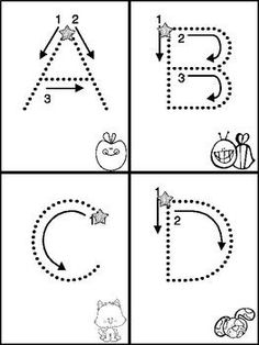 ABC & 123 Tracking Pages for Letters & Numbers by Stephanie Ann -Teacher Sparkle- Preschool Writing, Preschool Letters, Preschool Curriculum, Learning Letters, Alphabet Activities, Preschool Worksheets, Preschool Learning, Preschool Activities, Kindergarten
