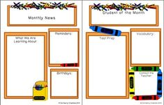 This file contains 3 newsletter forms for each season Fall, Winter, &Spring. The forms are in PDF format. Simply type in the form and print. The text resizes to fit on it's own, and if you do not like the font or it's size, simply press CTRL+E on your PC All About Me Activities, Grammar Activities, Writing Activities, Writing Resources, Teaching Resources, Teaching Ideas, Student Of The Month, Teaching Sight Words, Teaching Style