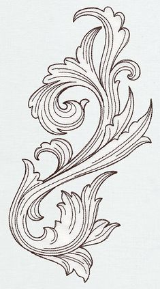 Miniature Menagerie Engraved Flourish | Urban Threads: Unique and Awesome Embroidery Designs