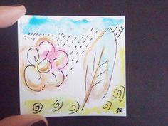 Acquarelli - acquerello fiore foglia estate inverno arte astrat - un prodotto unico di LaSoffittaDiSte su DaWanda