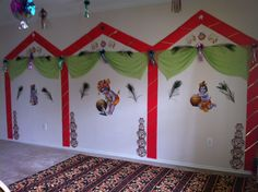 Indian traditional theme...Lord Krishna... Baby Shower Themes, Baby Shower Decorations, Shower Ideas, Lord Krishna Birthday, 2nd Birthday, Birthday Parties, Baby Krishna, Festival Decorations, Arya