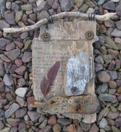Driftwood, vintage haberdashery, found objects, hand stitch