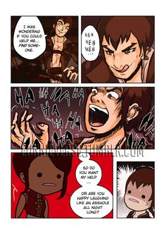 """eunnieverse: """" """" Dumb_Tyrian.png """"Yeah, 'ha ha ha', you're a freaky dude. So scary. So you want help or not?"""" """" This comic is brought to you by my awesome patrons! Support the artist 